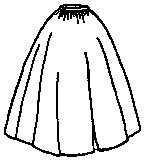 1850s to 1860s Cartridge Pleated Skirt Pattern