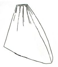 1860s Riding Habit Skirt Pattern