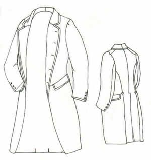 1858 Single Breasted Frockcoat Pattern