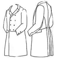 1850s to 1860s Double Breasted Frockcoat Pattern