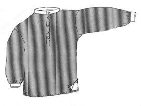 1800s Band Collar Shirt Pattern