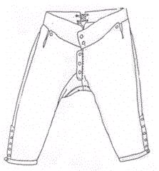 1730-1770 French Fly Breeches Pattern
