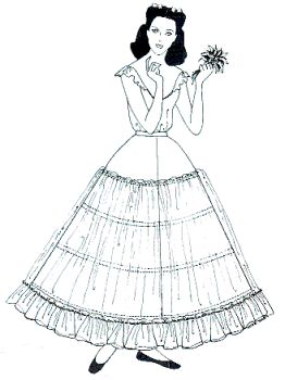 Hoop Skirt for the Barbecue Party Dress