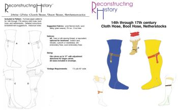 14th - 17th Century Cloth Hose Pattern by Reconstructing History