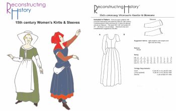 15th Century Women's Kirtle & Sleeves Pattern by Reconstructing History