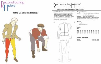 15th Century Doublet & Hosen Pattern by Reconstructing History