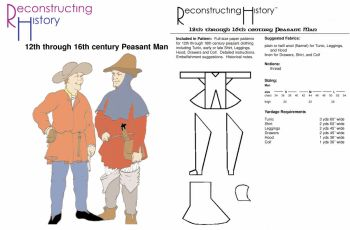 14th through 16th Century Peasant Man Pattern by Reconstructing History
