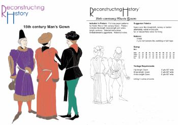 15th century Man's Gown Pattern by Reconstructing History