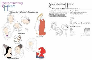 15th century Women's Accessories Pattern by Reconstructing History