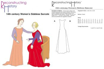 14th Century Women's Surcote Pattern
