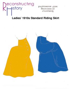 1910s Safety Riding Skirt Pattern