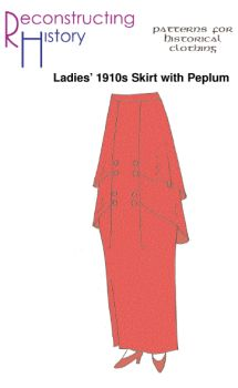 1910s Peplum Skirt Pattern