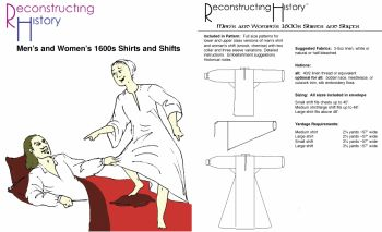 1600's Men's and Women's Shirts and Shifts Pattern by Reconstructing History