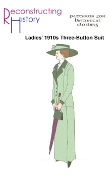 1910s Lady's Three-Button Coat and Skirt Pattern