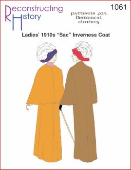 1910s Lady's Sac Inverness Coat Pattern
