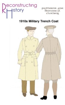 1915 Military Trench Coat Pattern