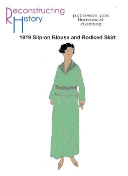 1920s Slip-on Blouse and Bodiced Skirt Pattern
