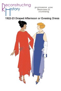 1922-23 Draped Afternoon or Evening Dress Pattern