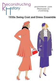 1930s One-Piece Dress and Swing Coat Ensemble Pattern