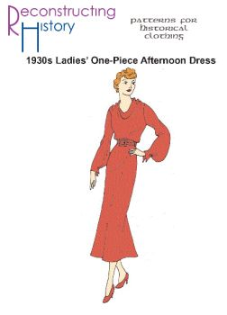 1930s One-Piece Afternoon Dress Pattern