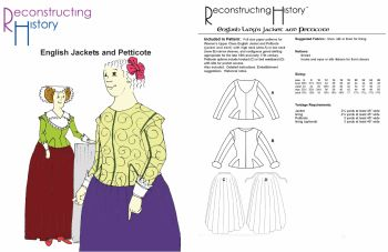 16th & 17th Century Late Elizabethan and Jacobean English Jackets and Petticote Pattern