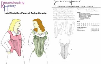 Late Elizabethan Corsets and Bodys Pattern