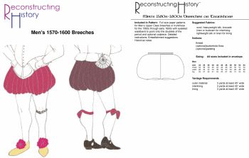1570s-1600s Men's Breeches Pattern