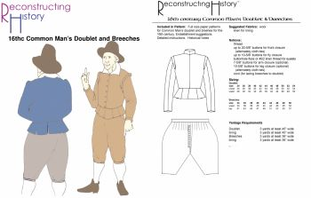 16th Century Common Man's Doublet & Breeches Pattern Reconstructing History