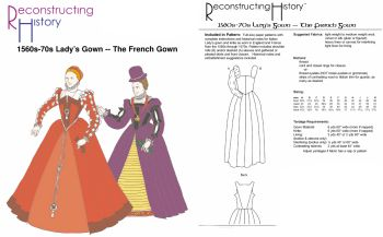1560s-70s Lady's French Gown Pattern