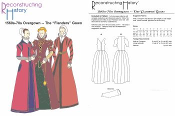 1560s-70s Flanders Gown Pattern