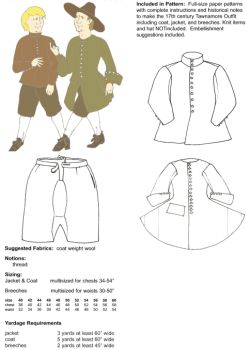 Patterns Of Time 17th Century Irish Tawnamore Outfit