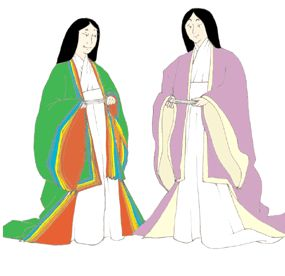 Heian Japanese Woman's Informal Outfit (Hitoe, Uchigi and Uwagi) Pattern
