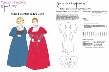 1530's Lady's Florentine Gown Pattern