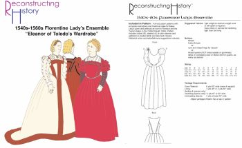 1540s-60s Florentine Lady's Outfit Pattern