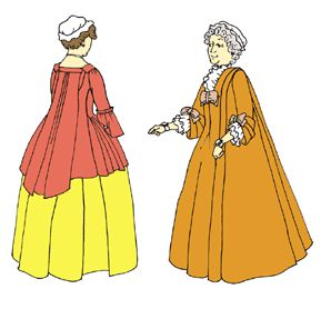 1720's - 1750's Wrapper, Robe Battante and Casaque Pattern
