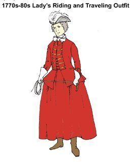 1770s-1780s Lady's Riding or Traveling Outfit Pattern