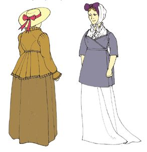 1790 - -1810 Regency Half-Robe and Robe Pattern