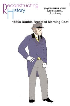 1860's Double-Breasted Morning Coat Pattern