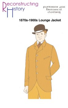 1870s-1900s Single-Breasted Lounge Jacket Pattern