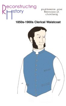 1850s-1900s Clerical Waistcoat Pattern