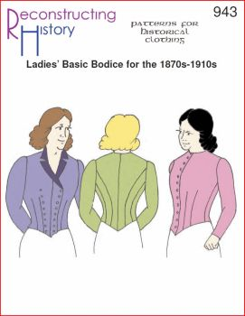 1870s-1910s Ladies' Basic Bodice Pattern