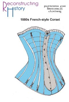 1880s Late Victorian Corset Pattern