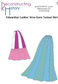 Edwardian Nine-Gore Tucked Skirt Pattern