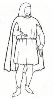 1300's to 1500's Medieval Men's Tabard Cape Pattern