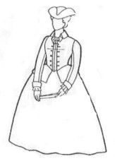 1700's Colonial Riding Habit Pattern