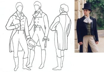 1795-1820 Men's Tailcoat Pattern
