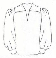 18th - 19th Century Renaissance - Pirate - Poet Shirt Pattern