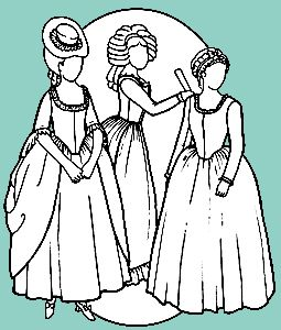 1700's Polonaise, Levite & Round Gowns Pattern
