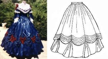 Patterns Of Time 1860s Ball Gown Skirt Pattern Western Frontier