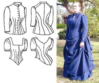 Patterns of Time 1885 Cuirass Bodice Pattern 1fbad1fbf